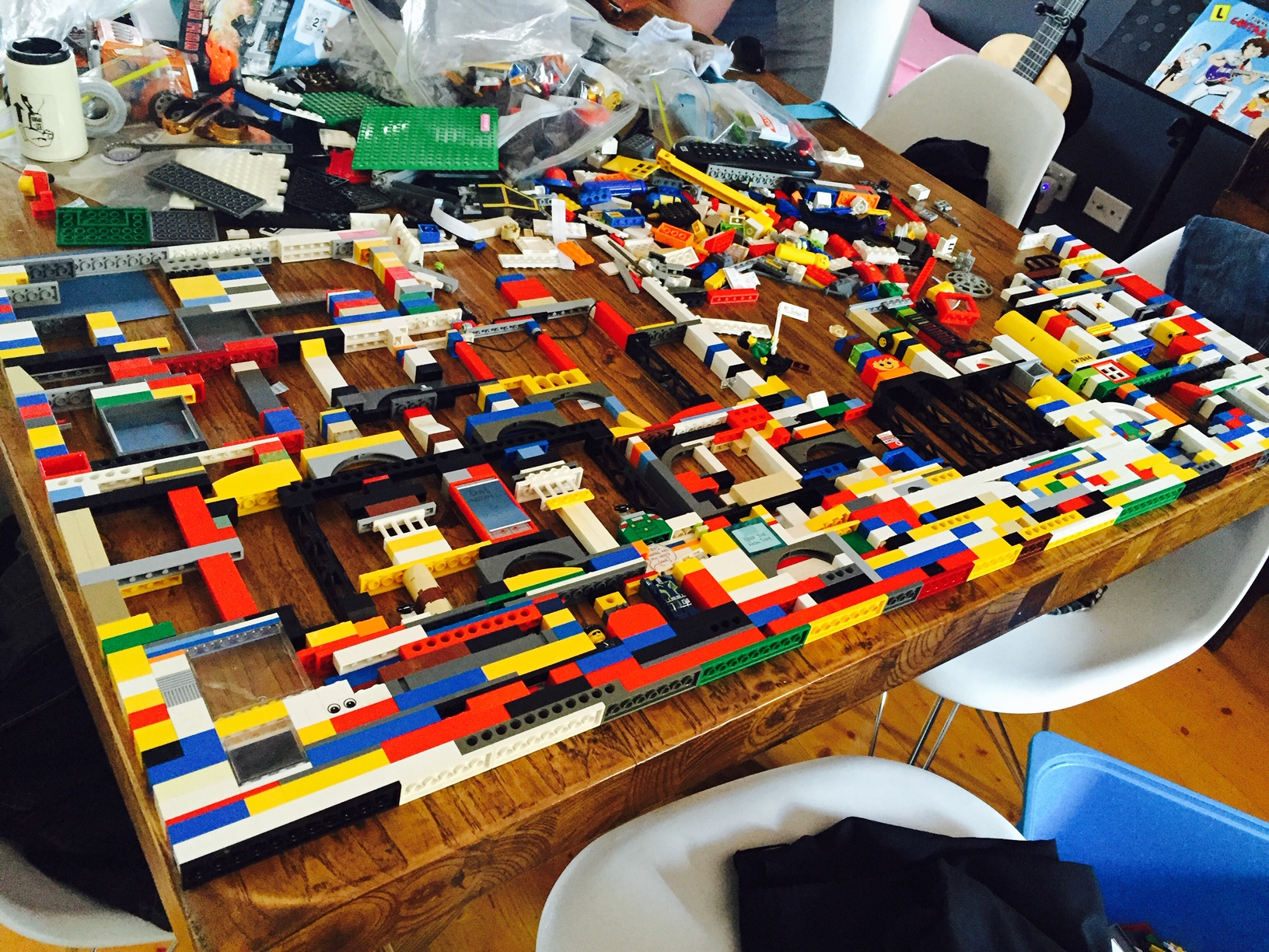 Lego study desk in the making