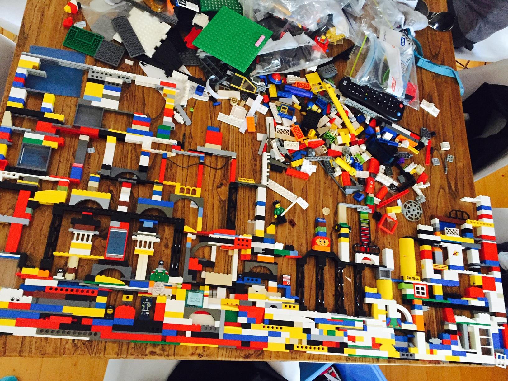 Legos everywhere
