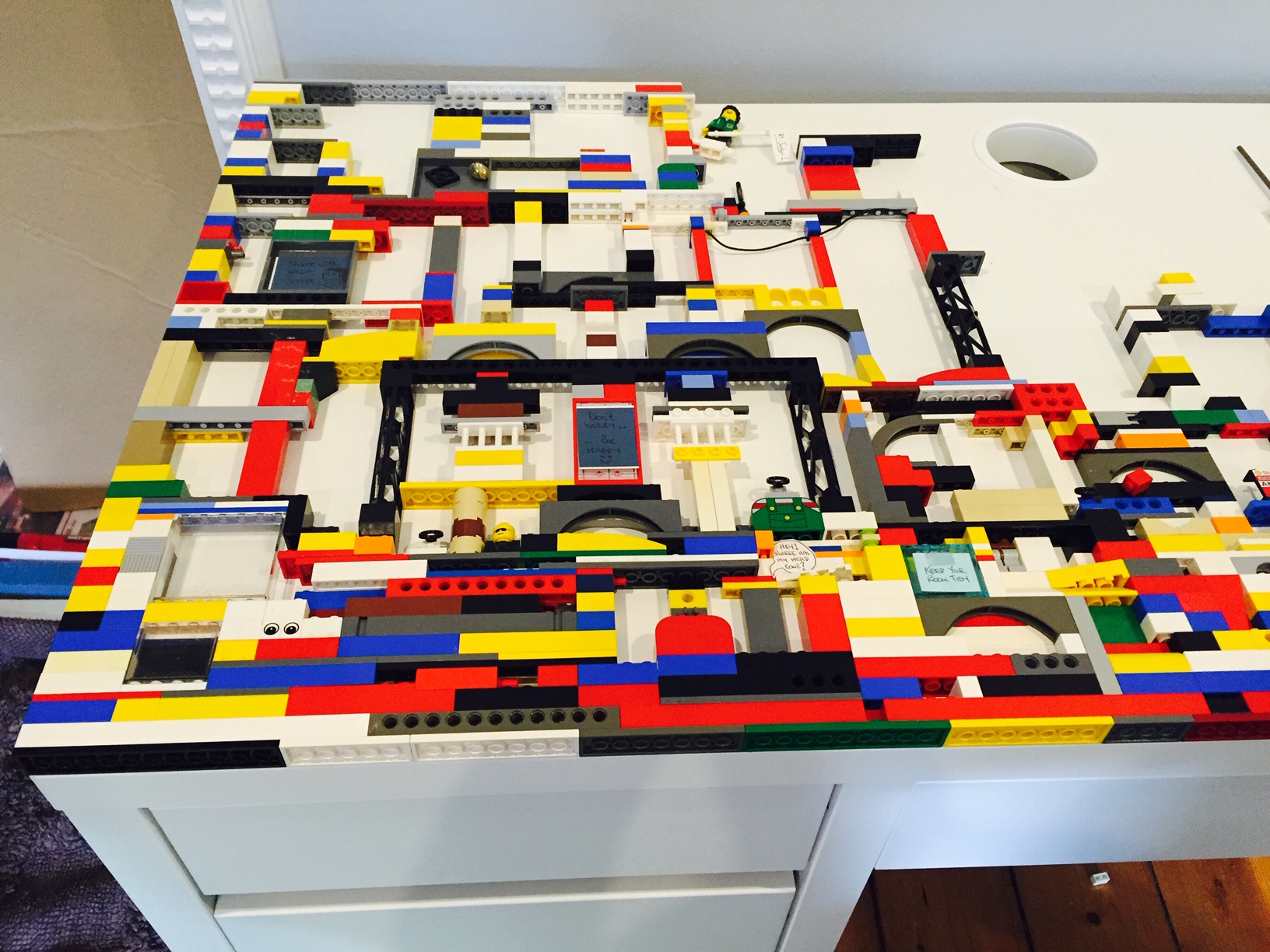 The lego desk is coming together
