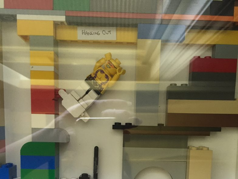 Hanging out Lego Man