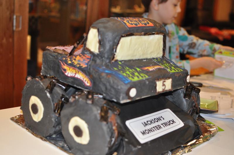 Monster truck 5th Birthday cake
