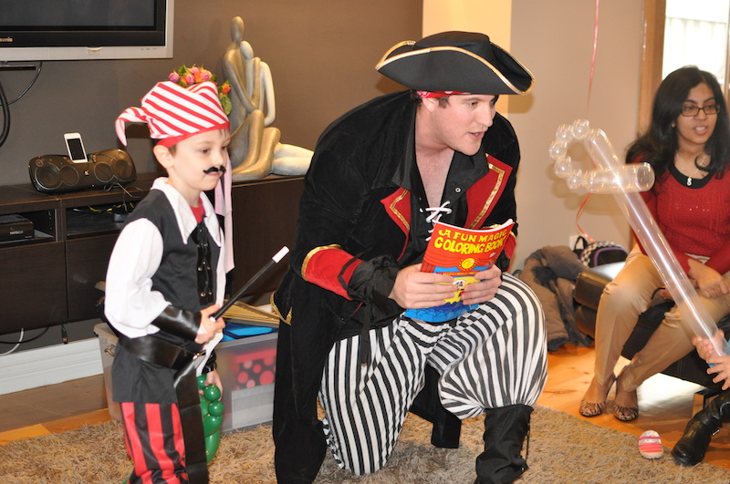 Pirate birthday entertainment and games