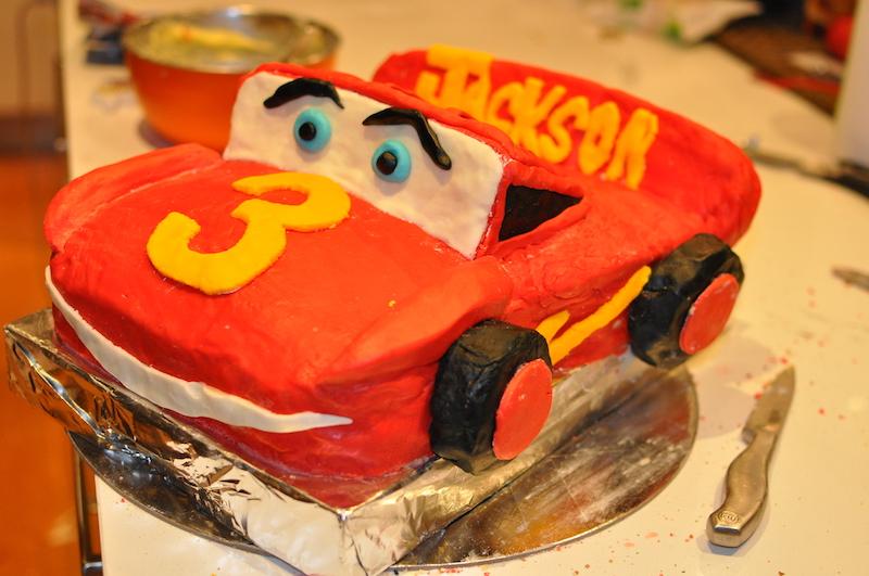 Cars birthday party cake