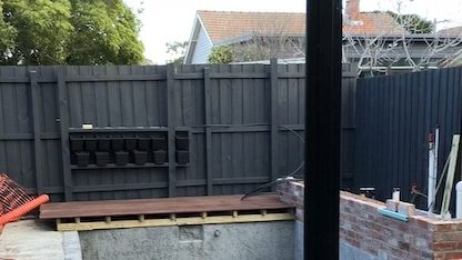 Wall garden install framing up