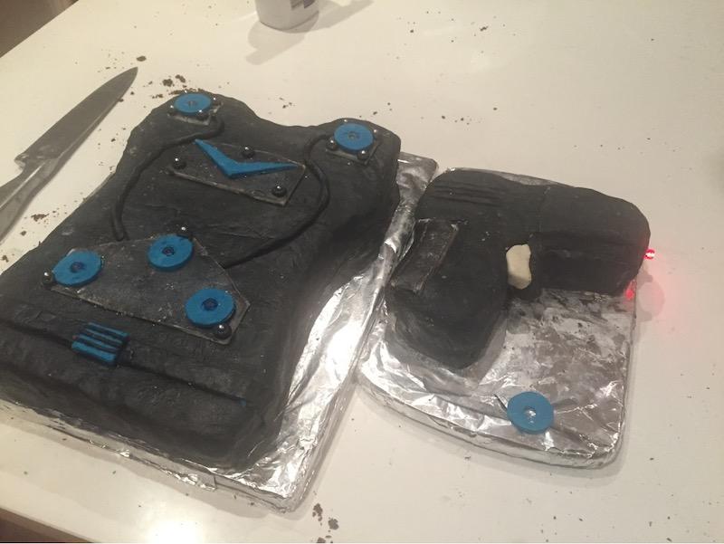 Lasertag birthday cake