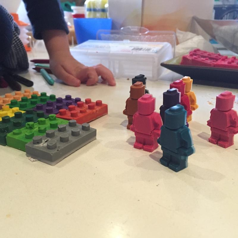 Lego DIY crayons