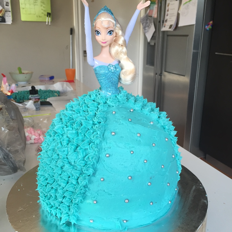 Frozen party themed cake