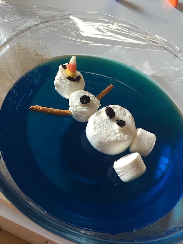 Frozen jelly cups