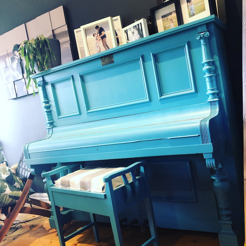 Teal Piano Diy painting your piano