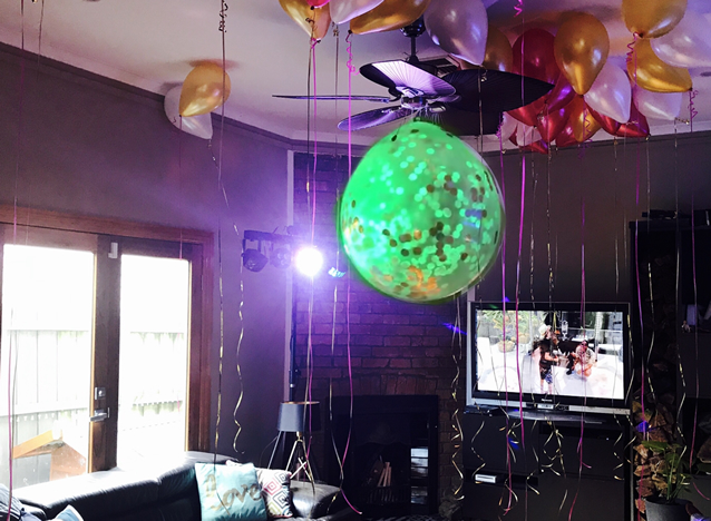 Disco light for birthday party